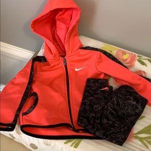 Nike jacket with leggings